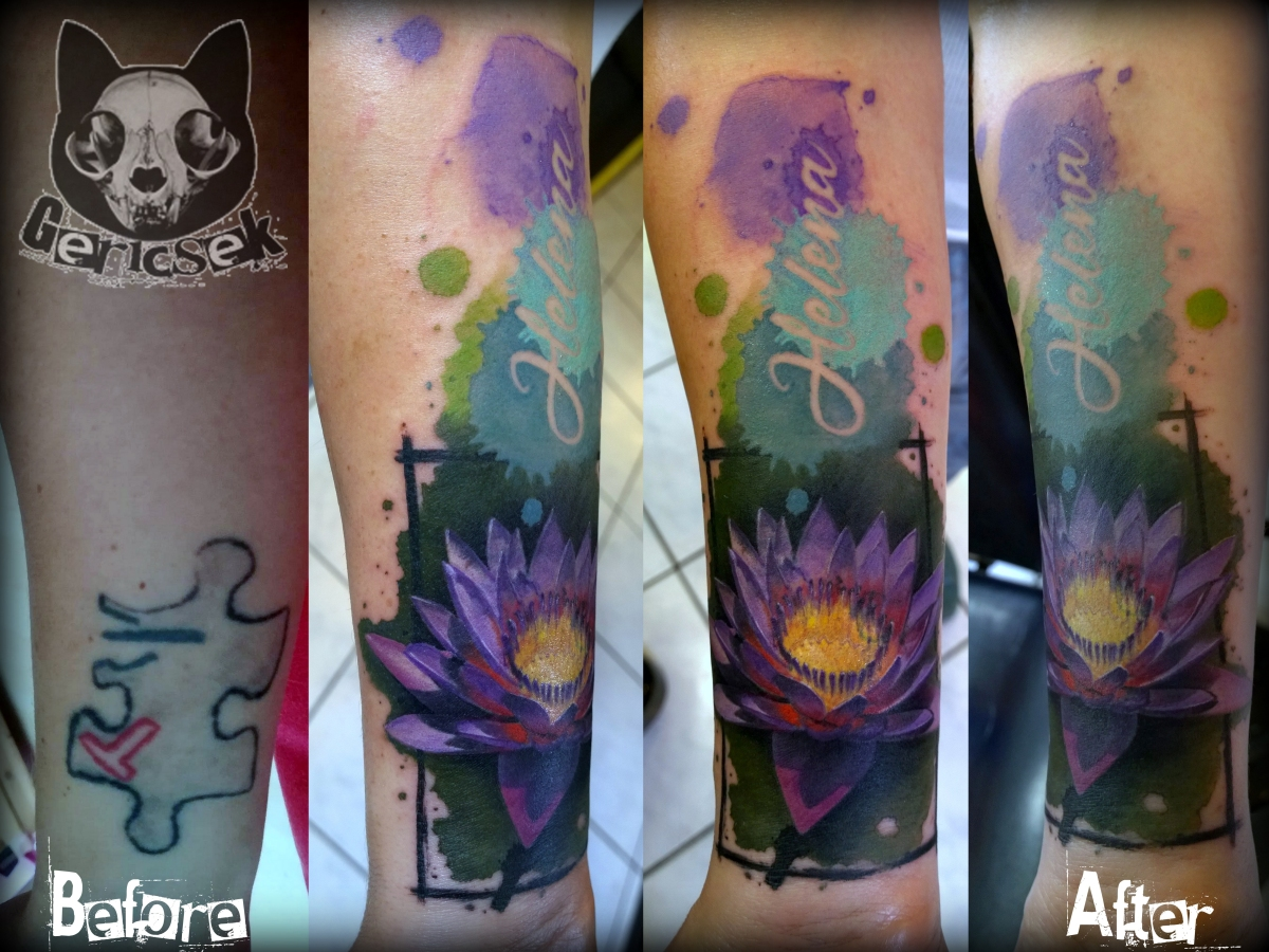 Realistic lotus flower tattoo cover up gericsek izmirmasajfo